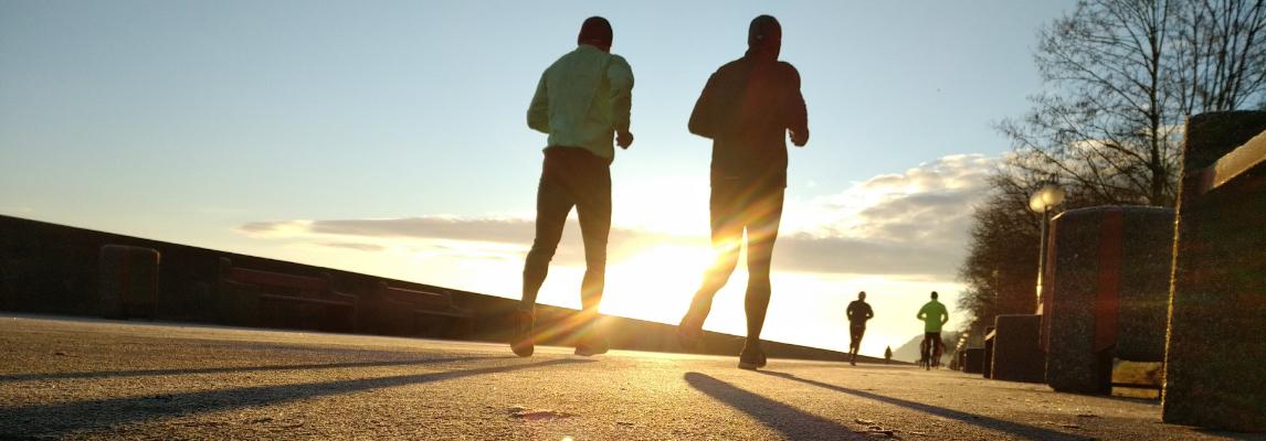 Biegacze na trasie